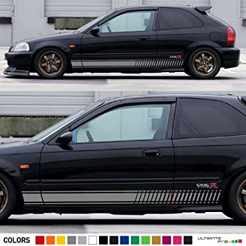Amazoncom X Decal Sticker Vinyl Side Racing Stripes Compatible - Honda civic decal stickers