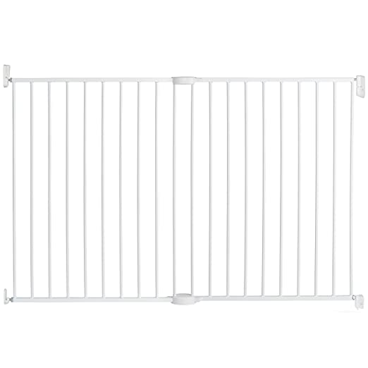 amazoncom munchkin extending metal extra tall and wide baby gate white indoor safety gates baby