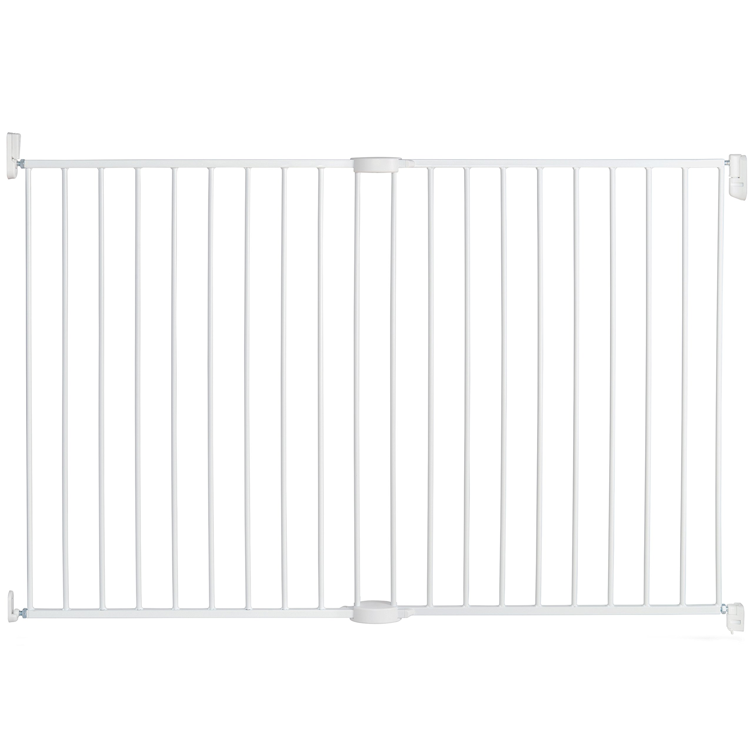 Munchkin Extending XL Tall and Wide Hardware Baby Gate, Extends 33'' - 56'' Wide, White, Model MK0004