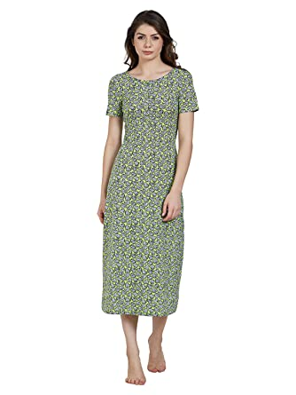0470dd3706 Blush by PrettySecrets Cotton Long Night Dress  Amazon.in  Clothing ...
