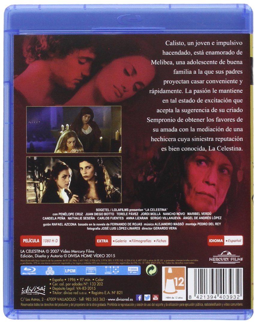 Amazon.com: La Celestina: Juan Diego Botto, Terele Pavez, Maribel Verdu, Nacho Novo Penelope Cruz: Movies & TV