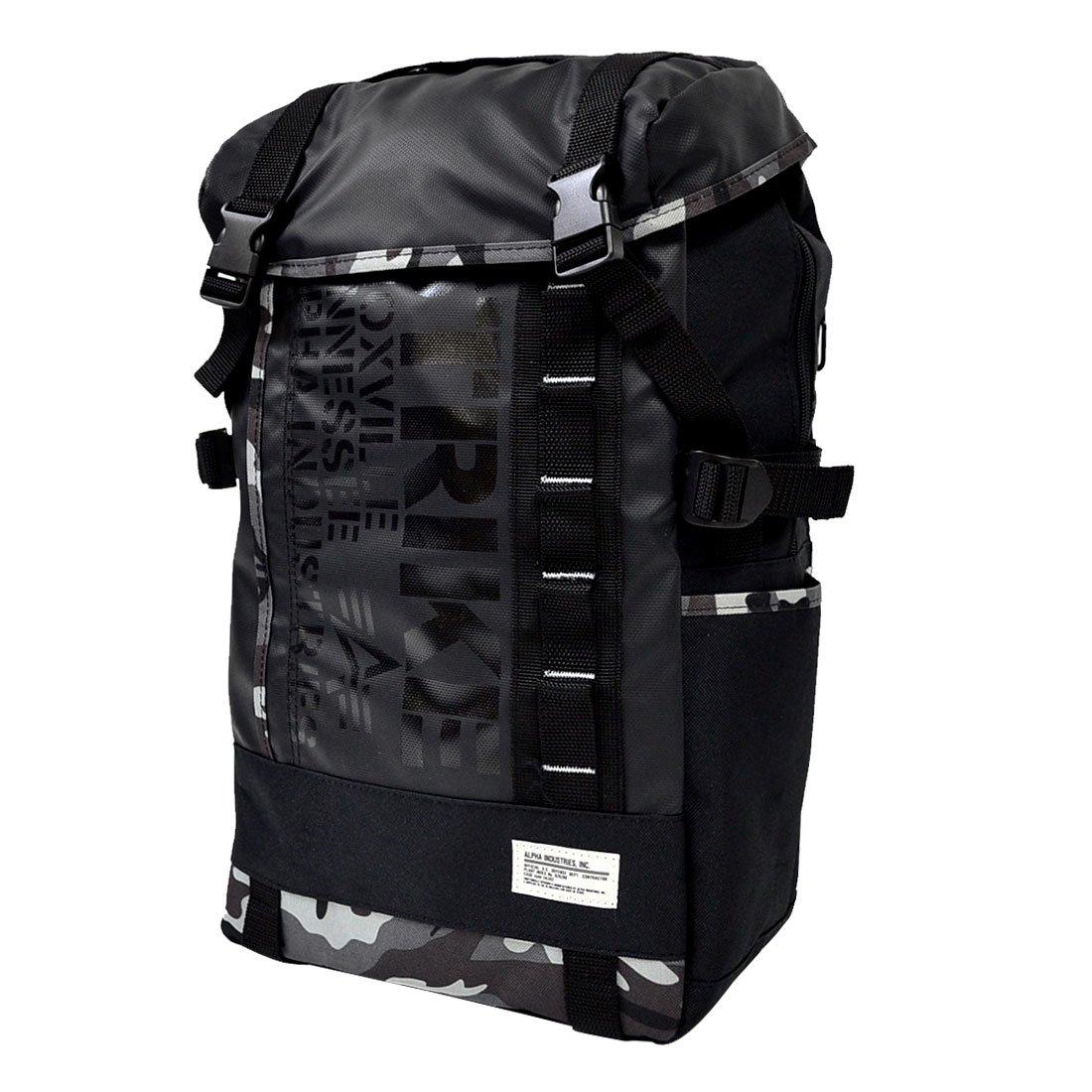 (アルファ インダストリーズ)ALPHA リュックサック メンズ レディース 0473200 フラップ デカリュック バックパック デイパック B01CQE2V5Y Black Camo Black Camo