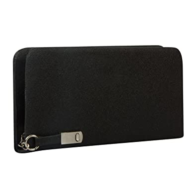457227b935 Flora Premium PU Leather Women s And Girls Wallet Clutch (Black Color)   Amazon.in  Shoes   Handbags