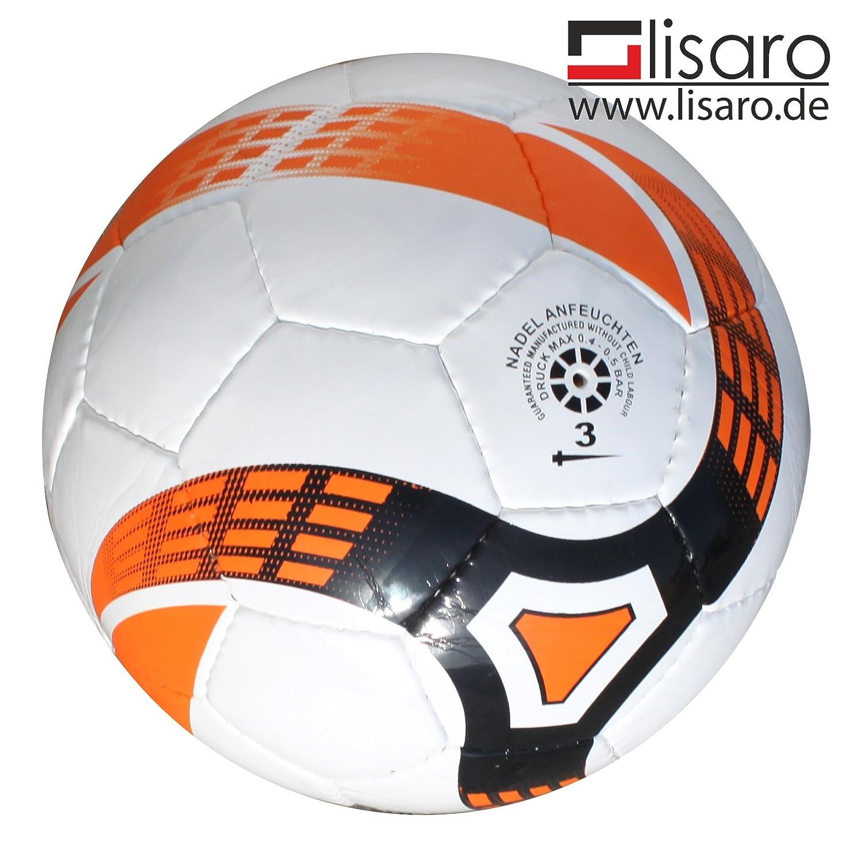 Balón de fútbol sala Talla 3/300g blanco de naranja/fútbol sala para jóvenes y F de S, así como Bambini (g de jóvenes). así como Bambini (g de jóvenes). Lisaro