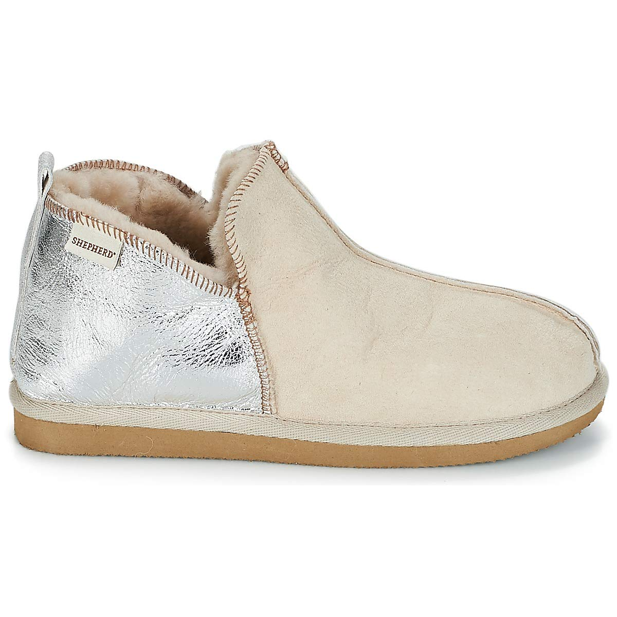 322f5242a1bf Shepherd of Sweden Annie Honey and Silver Slipper Boot  Amazon.co.uk  Shoes    Bags