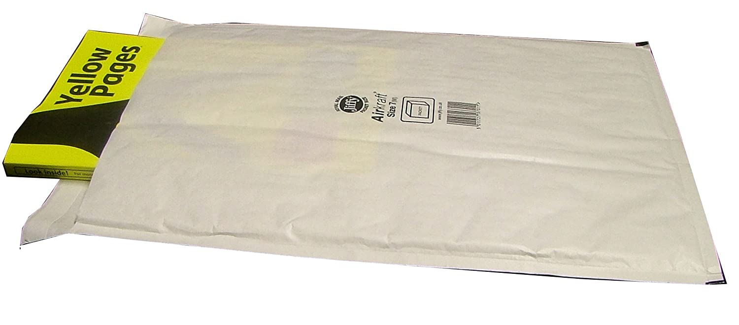 5 JIFFY Bags JL7 Padded Envelopes 340 x 445 White K/7