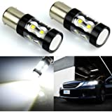 JDM ASTAR Extremely Bright Max 50W High Power 1156 7506 LED Fog Light Bulbs for Back Up Reverse Lights, Xenon White