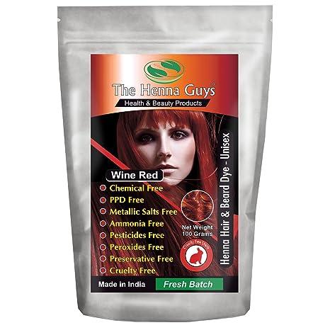 Amazon Com Wine Red Henna Hair Beard Dye Color 1 Pack The