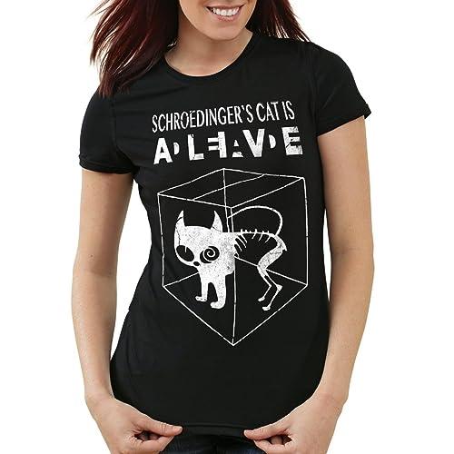 style3 Gatto di Schrödinger T-shirt da donna