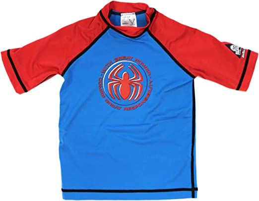 Camisa de surf Small Blue Spiderman - Camisa de nataci¨®n Spiderman: Amazon.es: Hogar