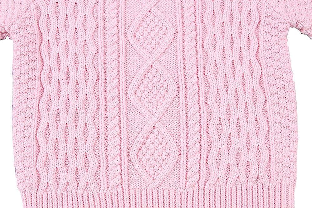 Wennikids Baby Boy Girl Twist Knit Pullover Sweater Cotton Lined Warm Sweatshirt