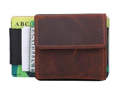 ea547bdfbe05 Star Japon カードケース 大容量 小さい財布 小銭入れ 本革 高級クレイジーホースレザー