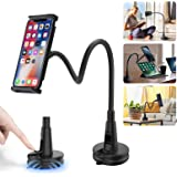 Phone Holder for Bed, Senose Gooseneck Flexible Long Arm Phone Holder Mount Stand for Desk Office Compatible with iPhone 11 P