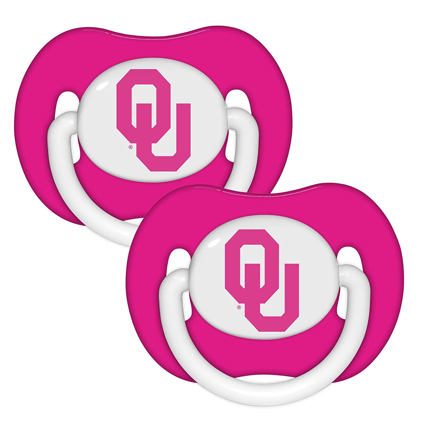 Amazon.com: Oklahoma Sooners Rosa 2-Pack infantil Chupete ...
