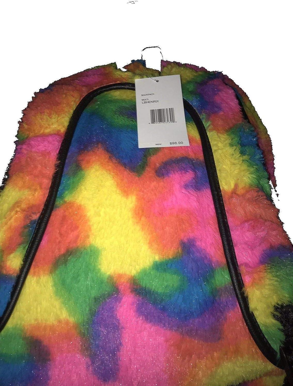 Luv Betsey Johnson Unicorn Rainbow Backpack plush fur glitter Henriks