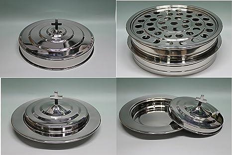 Amazoncom Silvertone 2 Stainless Steel Communion Trays With 1