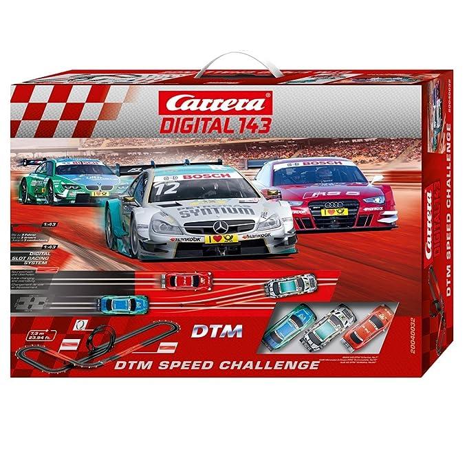 Carrera Digital 143 - Circuito DTM Speed Challenge con Coches de Juguete AMG Mercedes C-Coupe DTM y Audi A5 DTM + BMW M3 DTM, 7.3 m (20040032): Amazon.es: ...