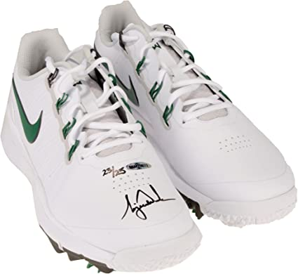 Tiger Woods Autographed White   Green Nike TW 14 Golf Shoes - Limited  Edition of 25 - Upper Deck - Fanatics Authentic Certified at Amazon s  Sports ... 142889b90