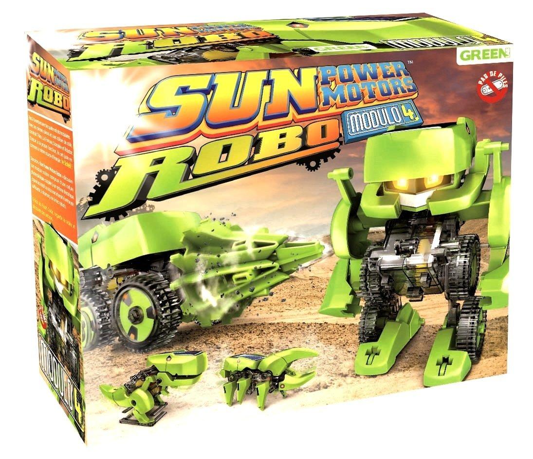 Green Lab Sun Power Motors Robo - Véhicules à Construire 4 en 1 alimenté à l'énergie Solaire Proteam Services sun robo 1 Véhicules & Bateaux