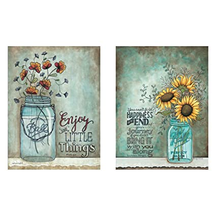 BABE MAPS Two 12x16 Wall Art Prints Ball Mason Jars Sunflowers Poppies  sc 1 st  Amazon.com & Amazon.com: BABE MAPS Two 12x16 Wall Art Prints Ball Mason Jars ...