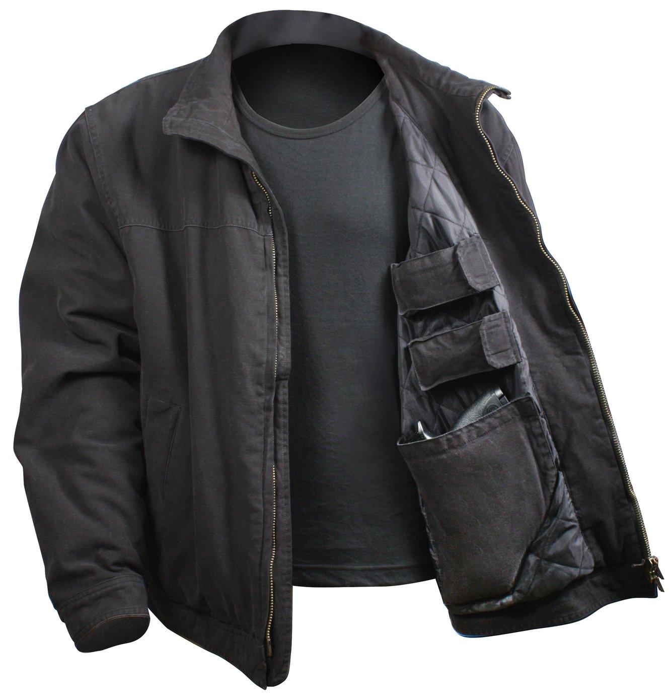 Rothco 3 Season Concealed Carry Jacket, Black, 3X-Large/Large