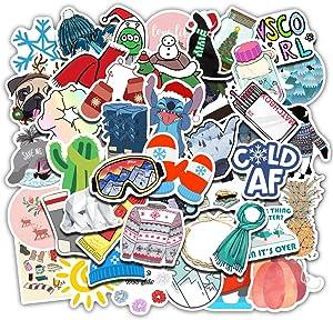 Ratgoo 50Pcs Trend Vsco Waterproof Vinyl Graffiti Stickers for Kids Teens Boys Girls Lady,Decals for Luggage Phone Guitar MacBook Toddler Flasks Bike Desk Car Laptop Motocross Snowboard Refrigerator