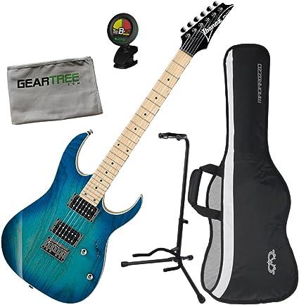 Ibanez rg421ahmbmt RG estándar guitarra eléctrica (azul luna Burst ...