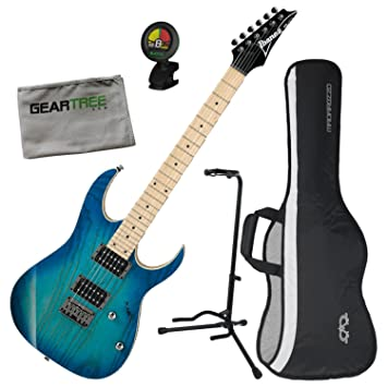 Ibanez rg421ahmbmt RG estándar guitarra eléctrica (azul luna Burst) W/gamuza de funda