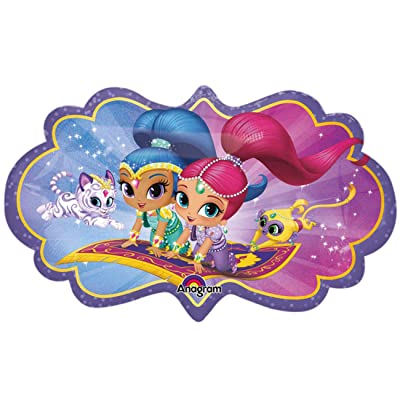 "Anagram 33942 27"" Shimmer & Shine foil balloon, Multicolor: Kitchen & Dining"