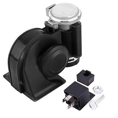 SoundOriginal 12Volt Loud Car Air Horn Big Truck Horn 150db with Automotive Relay Electric Horn for Truck Car Motorcycle (Black): Automotive