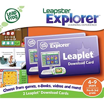 Amazon.com: LeapFrog Leapster Explorer Leaplet Download Cards (set ...