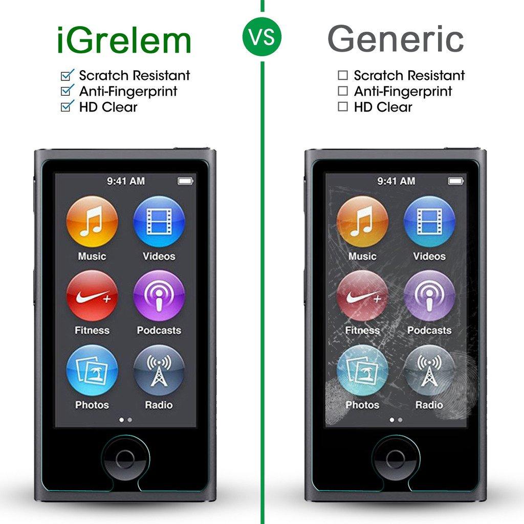 Premium Tempered Glass Screen Protector Film for iPod Nano 7 7th 8 8th Gen