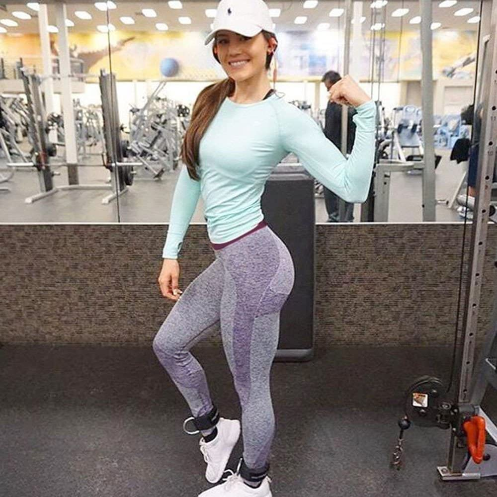 Fudule Pants,Leggings for Women Yoga Pants High Waist Fitness Pants Workout Running Pants Stretch Yoga Capris Leggings