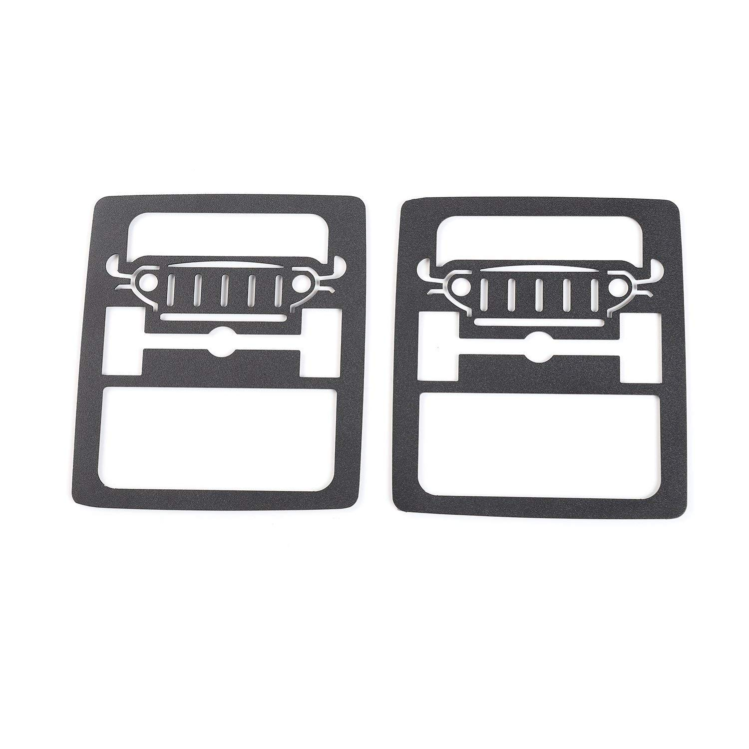 Rugged Off Road Pair JeCar Metal Tail Light Guard Cover for 2018 Jeep Wrangler JL Sport//Sports