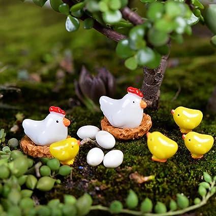 5 Pcs Micro Landscape Decorations Mini Resin Animal Garden DIY Tree #1