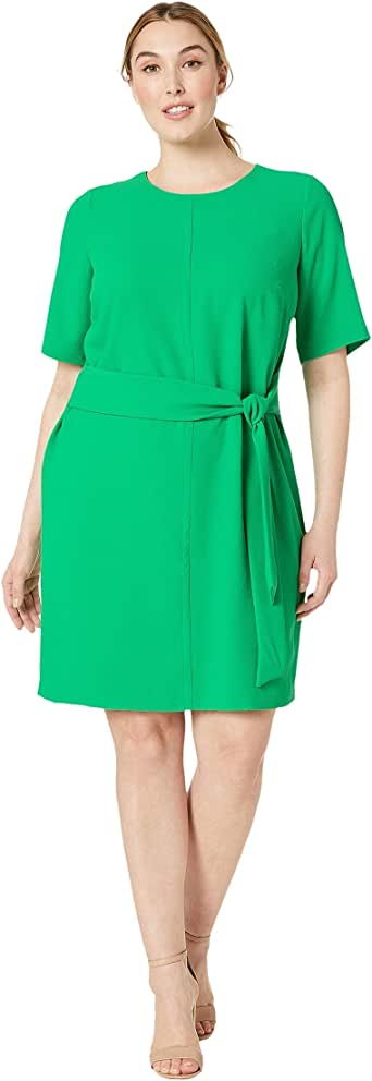 Vince Camuto Women's Plus Size Short Sleeve Parisian Crepe