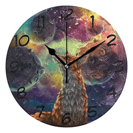 Amazon.com: LORVIES Little Prince Fox Wall Clock Silent Non ...