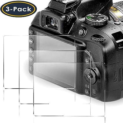 Paquete De 2 Protectores De Pantalla Tapa Protector Film Para Nikon D3300