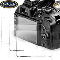 QIBOX Screen Protector Compatible Nikon D3400 D3500 D3300 D3200 D3100 DSLR Camera, [3 Packs] 9H Tempered Glass Shield Protection Cover Anti-Bubble Anti-Scratch Anti-Fingerprint Ultra-Clear