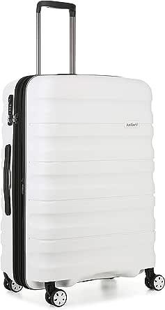 Antler Juno 2 4W Medium Roller Suitcase Hardside, White, 68cm