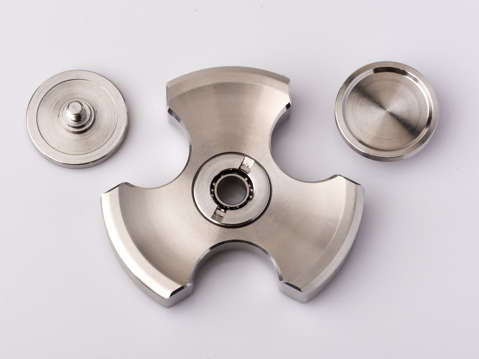 ILoveFidget Fidget Spinner, Best Stainless Steel Hand Spinner EDC Toy, R188 bearing spins up to 8 mins, relieve stress ADHD ADD Austism anxiety boredom, improve focus attention (Tri Bar) by ILoveFidget (Image #4)