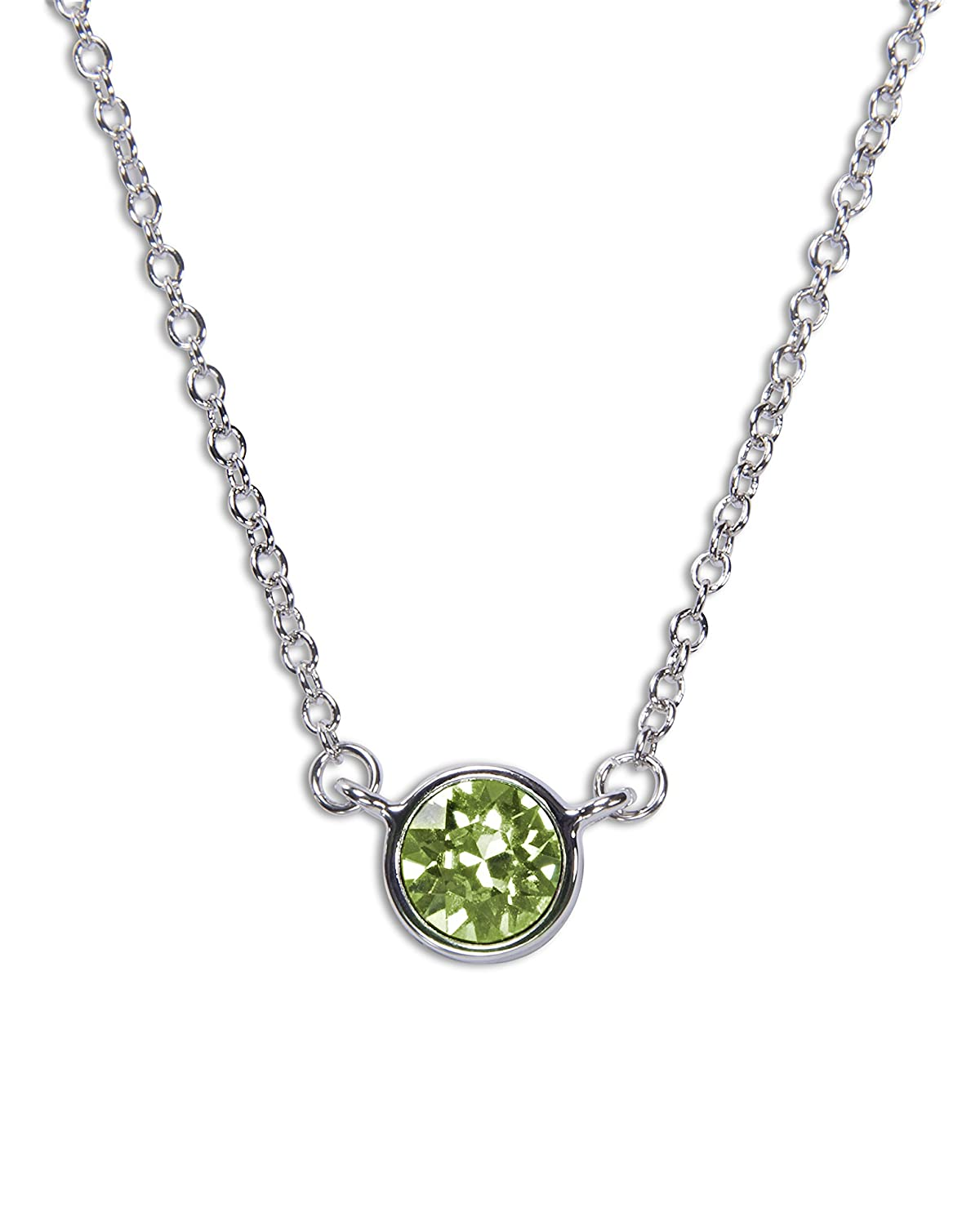 Pavilion Gift Company H2Z 16223 August Peridot Birthstone Necklace with 18 Chain