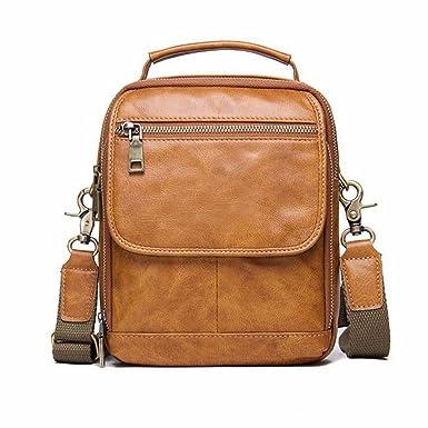Lrsny Bolso bandolera en piel,mochila hombre,piel multifuncional.: Amazon.es: Ropa y accesorios