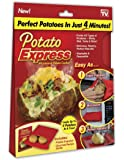 Potato Express Microwave Potato Cooker, Perfect Potatoes in 4 minutes
