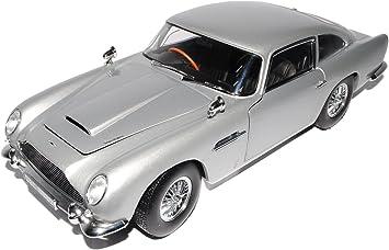 Sun Star Aston Martin Db5 Coupe Silber James Bond Goldfinger 1963 1965 1 18 Modell Auto Mit Individiuellem Wunschkennzeichen Amazon De Spielzeug