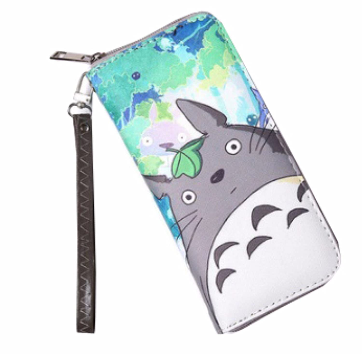 animanga new Wallet Cool PU Leather Money Fold Purse Long Totoro Gray Cat Totoro rare