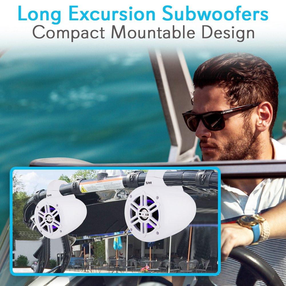 Amazon.com: Waterproof Marine Wakeboard Tower Speakers - 4 Inch Dual ...