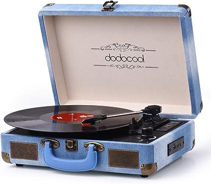 Dodocool - Reproductor de discos de vinilo, tocadiscos vintage de ...