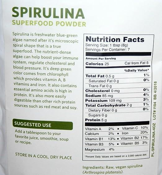 Com 360 Nutrition Spirulina Powder 2 Ounce Health Personal Care