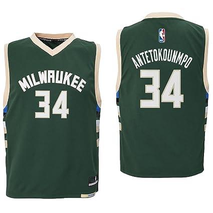 4ffda1287 Giannis Antetokounmpo Milwaukee Bucks  34 Green Youth Road Replica Jersey  Small 8